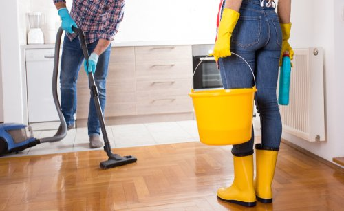 How do I prepare my house for cleaning