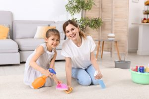How do I clean my carpets myself