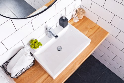 How do you clean a bathroom sink naturally